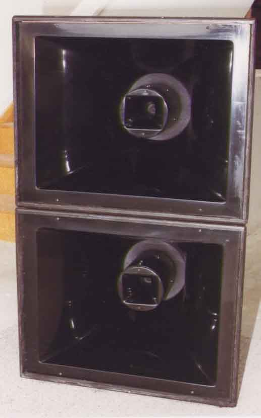 A frontal view showing the unique coaxial construction.
