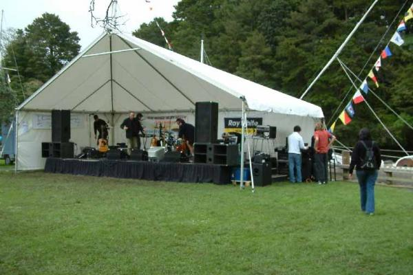 Setting up at a Kowhai Festival at Warkworth.