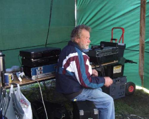 Long term soundman Bob Campbel